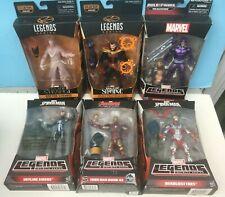 Marvel Legends (6) LOT IRON MAN, Dr Strange, Machine Man, BEETLE, Spider-Girl