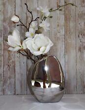 Vase Tischvase Blumenvase silber Keramik