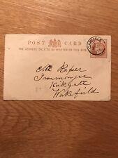 20th Aug 1878, Postal Interest, Prepaid QV Calling Card, Carlisle Cancellation