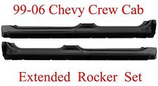 99 06 Extended Crew Cab Rocker Set, Chevy GMC Truck, Extends Into Jambs, 1.2MM