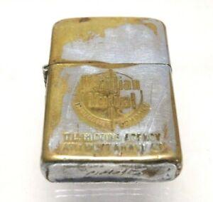 Vintage 1958-1965 Zippo Lighter Meridian Mutual Insurance Advertising Worn