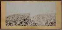 Costantinopoli Istanbul Panorama Turchia Stereo Foto Vintage Albumina Ca 1860