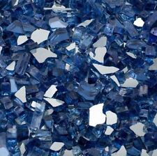25 lb. Cobalt Blue Fire Glass Reflective Tempered Fireplace Pit Gas Propane New