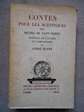 CONTES POUR LES SCEPTIQUES MICHEL DE SAINT PIERRE ANDRE HOFER