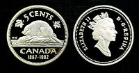 Canada 1867 - 1992 Proof Gem UNC Five Cent Nickel!!