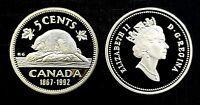 Canada 1867 - 1992 Proof Gem UNC Five Cent Nickel!!