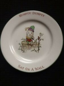 VINTAGE CHILDS HUMPTY DUMPTY CROWN DUCAL WARE SIDE PLATE. GOOD CONDITION.
