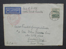 Germany 1936 Cover Via Air Mail to New York