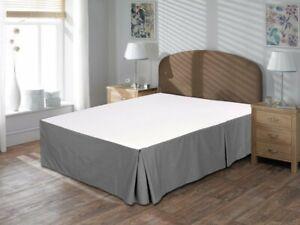 Luxurious Quality 800TC 100% Organic Cotton 1pc Bedskirt 12 Inch Drop Length
