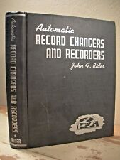 AUTOMATIC RECORD CHANGERS AND RECORDERS Rider 1941 HC Turntable Player 33 45 78
