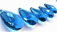 5 Dark Cobalt Blue Teardrop Chandelier Crystals Prisms Suncatchers