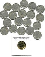 Rare Antique US Liberty Indian Buffalo Nickel USA Collection Coin Lot Gold Y166