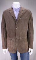 * KITON * Recent Light Brown Perforated Suede Leather 2-Btn Blazer Jacket 46