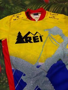 Men's Louis Garneau REI Cycling Mountain Bike Racing Jersey Shirt Medium M