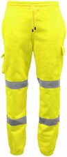 Hi Viz High Visibility Safety Trouser Fleece Work Wear Joggers Thick Sweat Pants