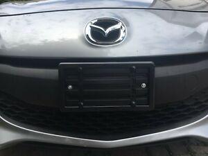 Front Bumper License Plate Mount Bracket + BLACK Frame for MAZDA  FREE SHIPPING