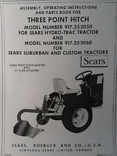 Sears 3 Point Hitch Amp Disc Harrow Implement Garden Tractor Owner Amp Parts Manuals