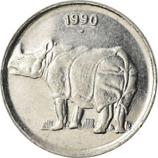 [#758849] Coin, INDIA-REPUBLIC, 25 Paise, 1990, EF, Stainless Steel, KM:54