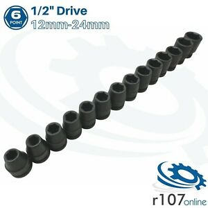 """Blue Point 1/2"""" Impact Sockets 12mm-24mm - As sold by Snap On"""