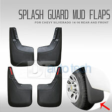 14-17 Silverado Mud Flaps Guards Splash Flares 4 Piece Front & Rear