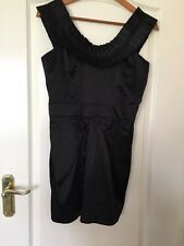 Black Cocktail Dress By Cotton Club - Size UK 12