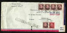 CHINA to URUGUAY air cover circa 1944 - VF