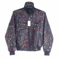 ROCA WEAR  Stitched Stars Ladies Leather Bomber Jacket, Black
