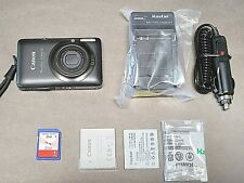 Canon PowerShot Digital Camera Elph SD940 IS 12.1MP Bundle Tested