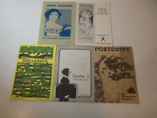 1978-1981 Lot 5 Antique Vintage POSTER CATALOGS The Exhumation # 3 4 5 6 & 7