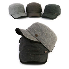 Unisex Mens Womens Mqum Tweed Urban Casual Army Military Cap Cadet Trucker Hats