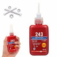 50ml Blue Liquid Medium Strength 243 Threadlocking Adhesive for M8 to M20 Thread