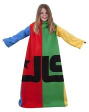 Character World JLS Jukebox Sleeved Fleece Blanket - Blue Red Green & Yellow