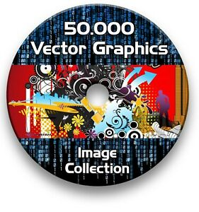 BROTHER SCAN N CUT 50,000 IMAGE VECTORS VINYLS FILES ON DVD  EPS SVG AI