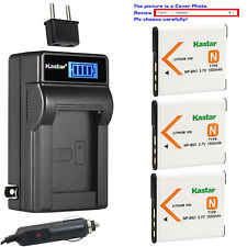 Kastar Battery LCD AC Charger for Sony NP-BN1 BC-CSN Sony Cyber-shot DSC-TX200V