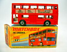 """Matchbox SF Nr.17B The Londoner rot """"The old Country"""" Werbemodell top in Box"""