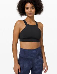 NWT LULULEMON Women's Size 6 Strong At Heart Sports Bra Black $68