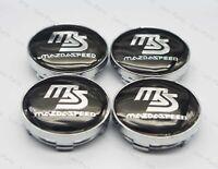 4Pcs 60mm Car Wheel Center Hub Caps Badge Rim Dust Cover Logo for Mazda Speed MS