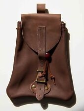 BROWN LEATHER POUCH ideal for longbow archery/archers