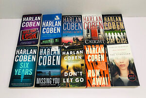 Lot of 10 Harlan Coben Books Thrillers~Netflix's The Stranger~Run Away~Six Years
