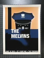 MELVINS screen printed gig poster by Ross Sewage St. Louis 2015 LIMITED EDITION