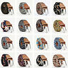 2019 Mens Canvas Elastic Woven Leather Pin Buckle Waist Belt Stretch Waistband