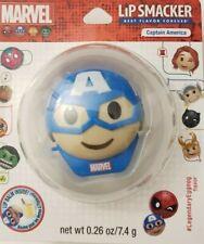 Marvel Lip Smacker Lip Balm Emoji Captain America Legendary Eggnog Comic Hero