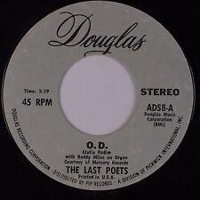 THE LAST POETS: O.D. / Black Thighs DOUGLAS Jazz Funk Spoken 45 HEAR