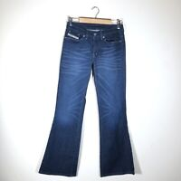 Diesel Daze Flare Jeans Women's Size 28 Made in Italy Dark Wash Mid Rise