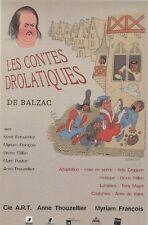 """""""LES CONTES DROLATIQUES de BALZAC"""" Affiche originale entoilée DUBOUT 44x64cm"""
