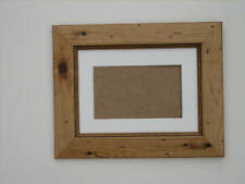 Antique Pine Real Wooden 6x8 Picture Photo Frame Mount 3.75X5.75 Hang