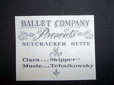 REPRO PAPER COPY VINTAGE BARBIE SKIPPER BALLET CLASS PAPER PROGRAM- #1905