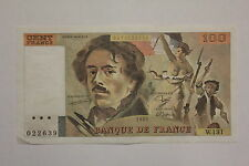 100 FRANCS DELACROIX 1989 BILLET FRANCE / FRANCIA. VF