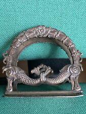 VINTAGE Porta Lettere In Argento 925 Da Scrivania Ben Lavorato In Stile Impero