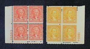CKStamps: US Stamps Collection Scott#641 642 Block Mint NH OG